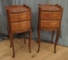 Small pair of French bedside tablesSOLD