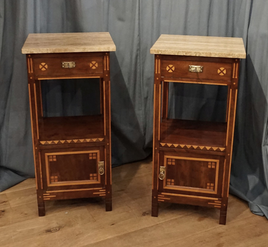Pair of Deco bedside tables