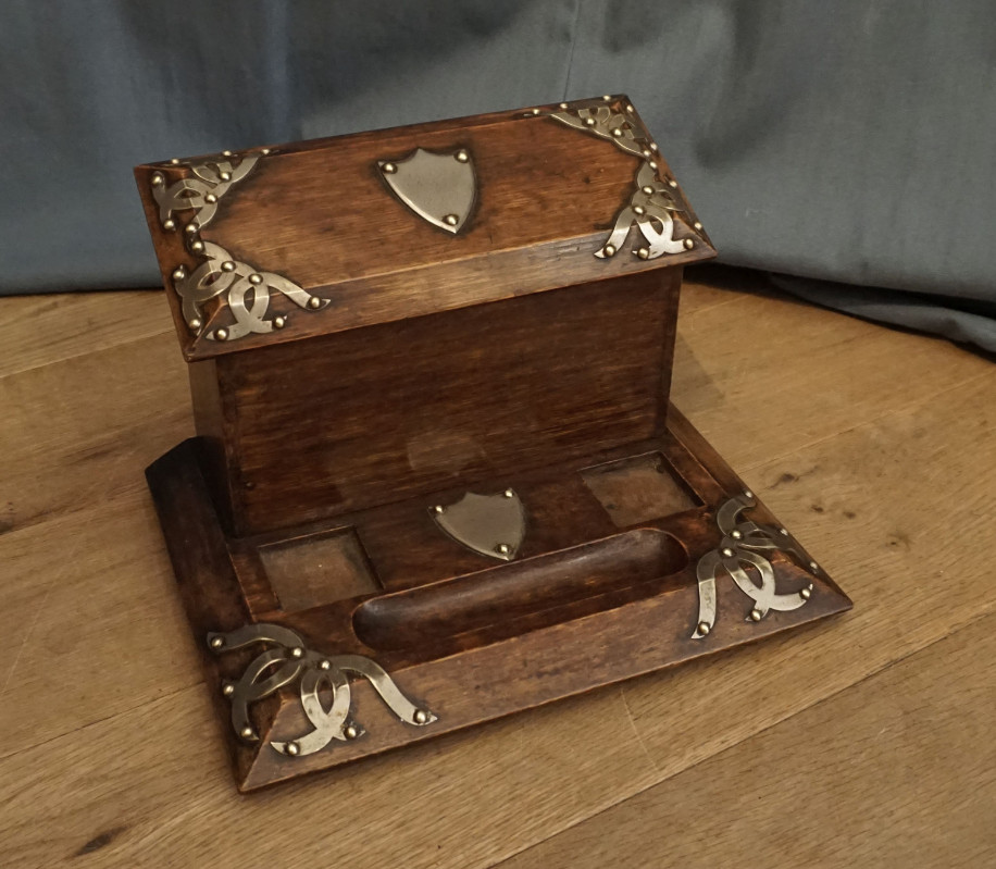 letter rack and inkwellSOLD
