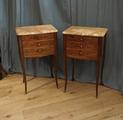 Pair of French bedside tablesSOLD