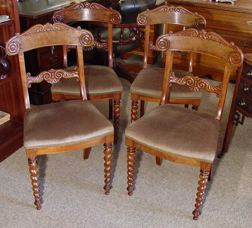 Set of four chairs, William IVSOLD