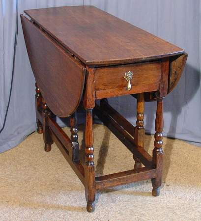 Oak gateleg table 18th centurySOLD
