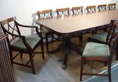 Dining table with fourteen chairsSOLD