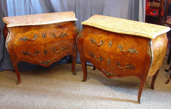 Pair of Louis XV style comodesSOLD
