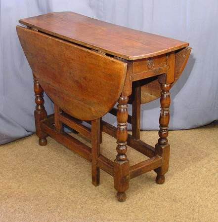 Oak and Elm gateleg table c 1700SOLD