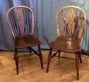 Pair of wheelback chairsSOLD