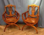 Pair of Marquetry chairsSOLD