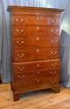 Mahogany tallboy chest on chestSOLD