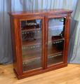 Mahogany bookcase with doorsSOLD