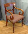 Scroll arm chairSOLD