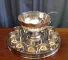 Punch bowl with tray and tumblersSOLD