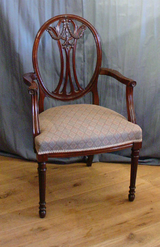 Mahogany chair with armsSOLD