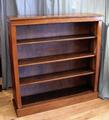 Walnut open bookcaseSOLD