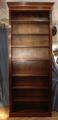Tall open bookcase mahoganySOLD