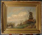 Dutch landscape with millSOLD