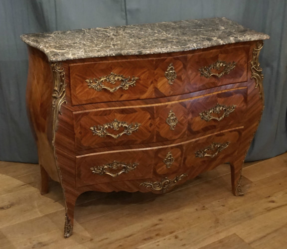 Louis XV style marble topped comodeSOLD